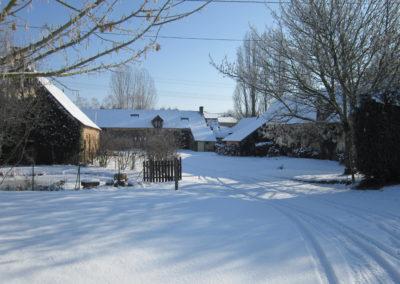 domaine La petite Chauvière sous la neige