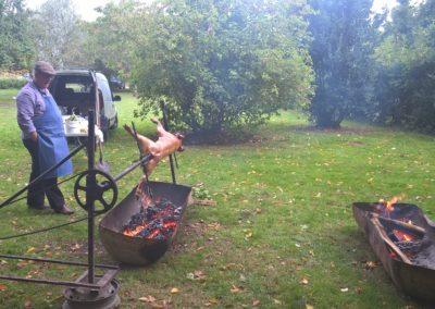 réception cochon grillé